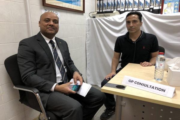 فندق ميلينيوم المطار دبي ينظم  فحصا طبيا مجانيا للعاملين به